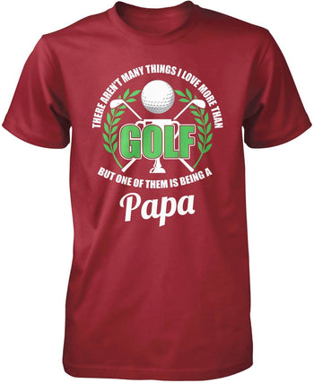This (Nickname) Loves Golf - Personalized T-Shirt - Premium T-Shirt / Cardinal / S