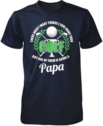 This (Nickname) Loves Golf - Personalized T-Shirt - Premium T-Shirt / Navy / S