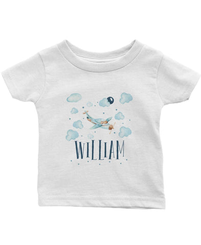 Cloudy Airplane - Personalized Children's T-Shirt - Children's T-Shirts