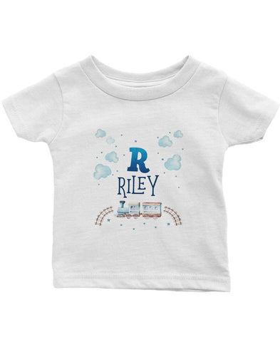 Cloudy Steam Train - Personalized Children's T-Shirt - Children's T-Shirts