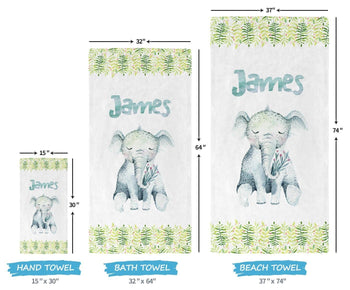Elephant Safari - Personalized Towel - Towels