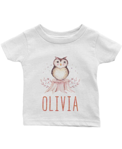 Woodland Owl - Personalized Infant & Toddler T-Shirt