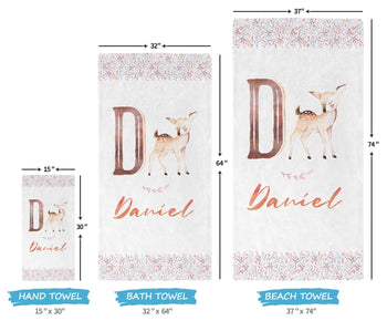 Woodland Deer - Personalized Towel - [variant_title]