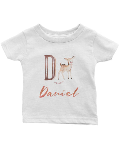 Woodland Deer - Personalized Infant & Toddler T-Shirt