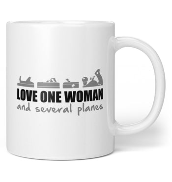 Love One Woman and Several Planes - Coffee Mug / Tea Cup