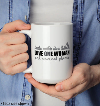 Love One Woman and Several Planes - Mug - [variant_title]