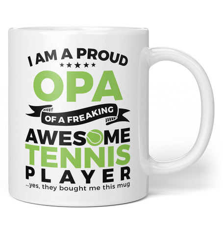 Proud Opa of An Awesome Tennis Player - Coffee Mug / Tea Cup