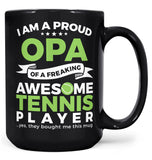 Proud Opa of An Awesome Tennis Player - Mug