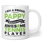 Proud Pappy of An Awesome Tennis Player - Coffee Mug / Tea Cup