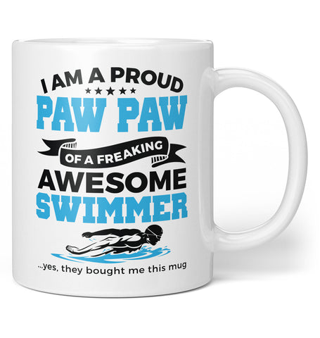Proud Paw Paw of An Awesome Swimmer - Coffee Mug / Tea Cup