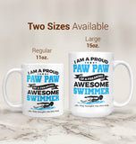 Proud Paw Paw of An Awesome Swimmer - Mug