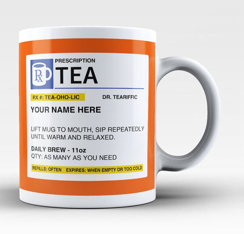 Personalized Prescription Tea Mug
