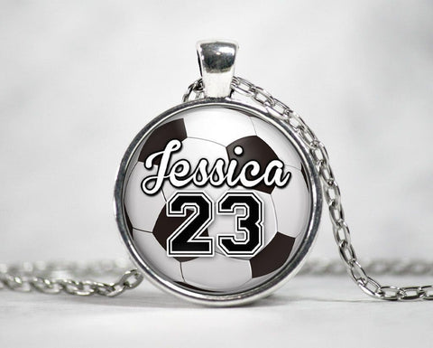 Soccer - Personalized Pendant & Necklace