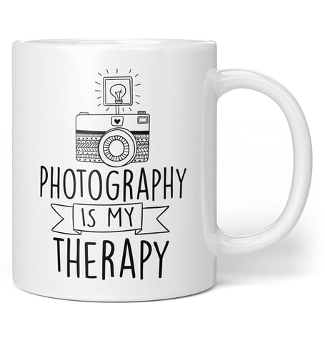 Photography Is My Therapy Coffee Mug