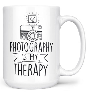 Photography Is My Therapy - Large - 15oz
