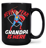 Never Fear (Nickname) Is Here - Mug - Black / Large - 15oz
