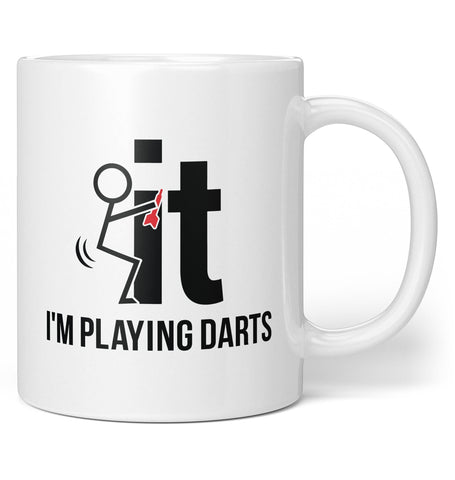 F-It I'm Playing Darts - Mug - Coffee Mugs