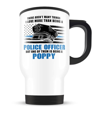 This (Nickname) Loves Being a Police Officer- Personalized Travel Mug / Cup