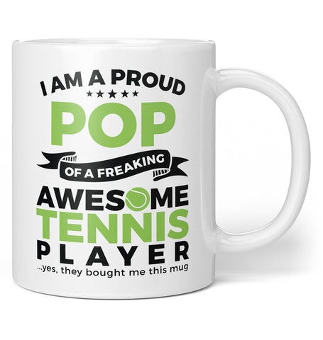 Proud Pop of An Awesome Tennis Player - Coffee Mug / Tea Cup