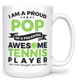 Proud Pop of An Awesome Tennis Player - Mug