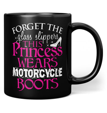 This Princess Wears Motorcycle Boots - Mug - Black / Regular - 11oz