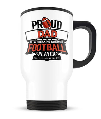 Proud (Nickname) of an Awesome Football Player - Personalized Mug