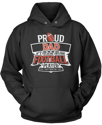 Proud (Nickname) of an Awesome Football Player Pullover Hoodie