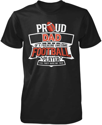 Proud (Nickname) of an Awesome Football Player - Premium T-Shirt