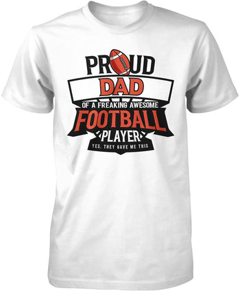 Proud (Nickname) of an Awesome Football Player - T-Shirt - Premium T-Shirt / White / S