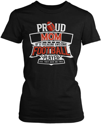 Proud (Nickname) of an Awesome Football Player - Women's Fit T-Shirt