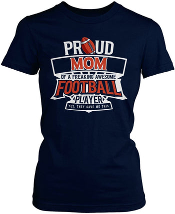 Proud (Nickname) of an Awesome Football Player - T-Shirt - Women's Fit T-Shirt / Navy / S