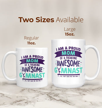 Proud (Nickname) of an Awesome Gymnast - Personalized Mug - [variant_title]