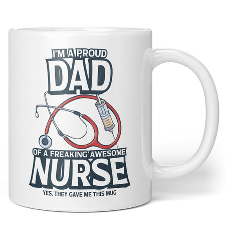 Proud (Nickname) of An Awesome Nurse - Personalized Mug / Tea Cup