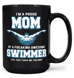 Proud (Nickname) of an Awesome Swimmer - Mug - Black / Large - 15oz
