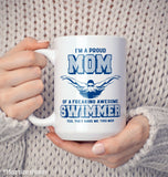 Proud (Nickname) of an Awesome Swimmer - Mug - [variant_title]