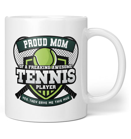Proud (Nickname) of an Awesome Tennis Player - Personalized Mug / Tea Cup