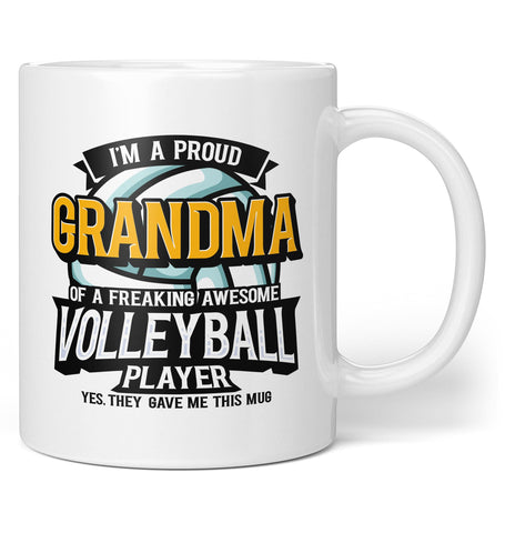 Proud (Nickname) of An Awesome Volleyball Player - Mug / Tea Cup