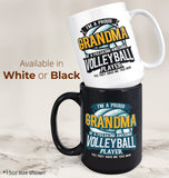 Proud (Nickname) of an Awesome Volleyball Player - Personalized Mug - [variant_title]