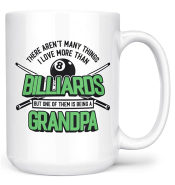 This (Nickname) Loves Billiards - Mug - White / Large - 15oz