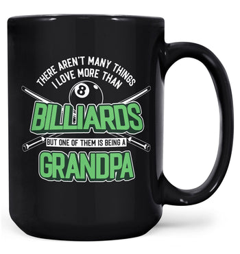 This (Nickname) Loves Billiards - Mug - Black / Large - 15oz