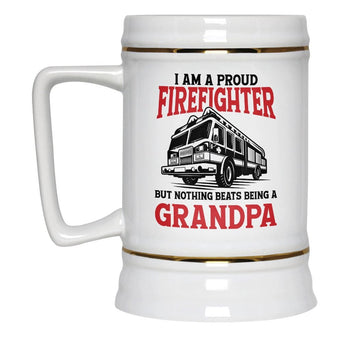 Proud Firefighter - Nothing Beats Being a (Nickname) - Beer Stein - [variant_title]