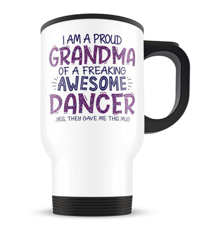 Proud (Title) of An Awesome Dancer - Personalized Travel Mug