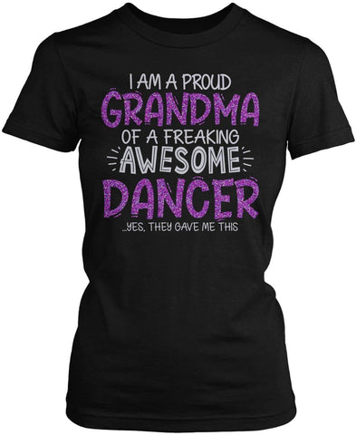 Proud (Title) of An Awesome Dancer - Personalized Women's Fit T-Shirt