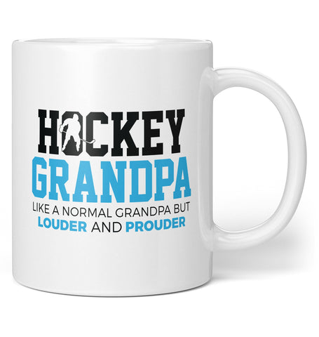 Loud and Proud Hockey (Nickname) - Blue - Personalized Mug / Tea Cup
