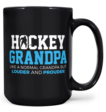 Loud and Proud Hockey (Nickname) - Blue - Mug - Black / Large - 15oz