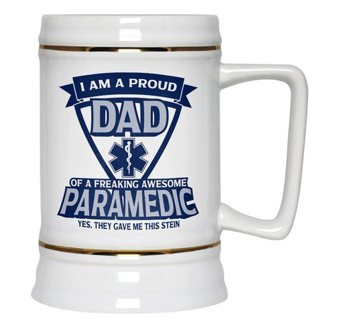 Proud (Nickname) of an Awesome Paramedic - Personalized Beer Stein