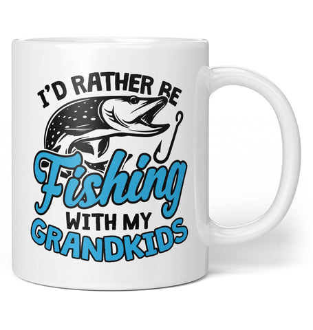 I'd Rather Be Fishing with My Grandkids - Coffee Mug / Tea Cup