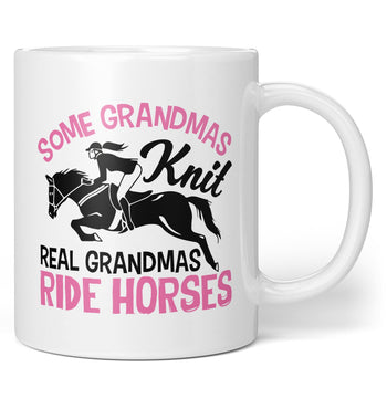 Real (Nickname)s Ride Horses - Personalized Coffee Mug / Tea Cup