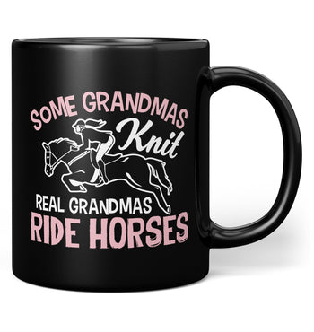 Real (Nickname)s Ride Horses - Mug - Black / Regular - 11oz