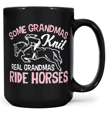 Real (Nickname)s Ride Horses - Mug - Black / Large - 15oz